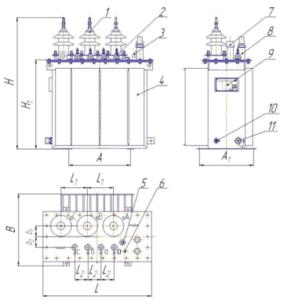Трансформаторы силовые масляные ТМГ